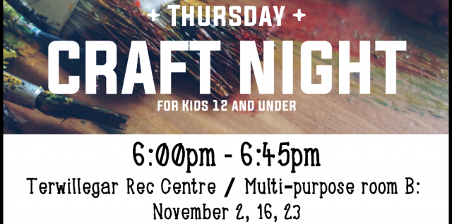 GWCL Thursday Craft Night for kids 12 and under!